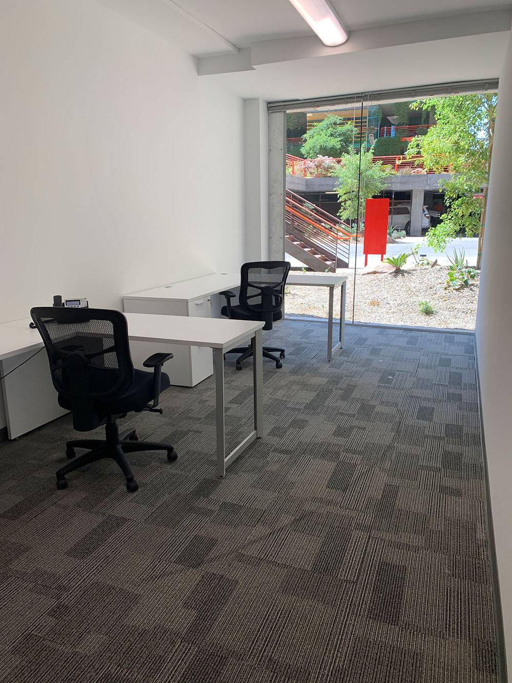 2-desk business suite featuring phone, internet, fully furnished, access to building amenities