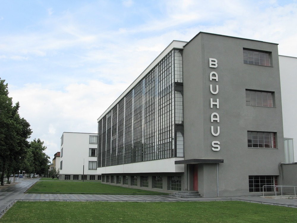 The Bauhaus School of Design, designed by Bauhaus Founder Walter Gropius, in Dessau, Germany.
