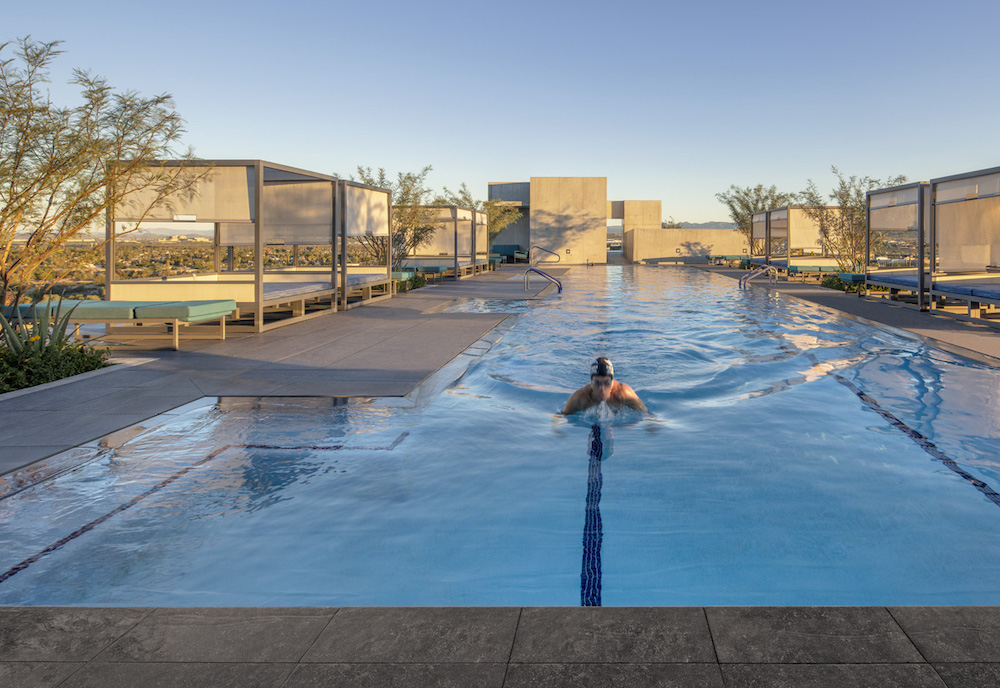 Rooftop pool at 7120 Optima Kierland.