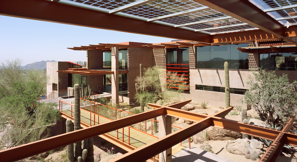 Cantilevered roofs and balconies at Sterling Ridge.