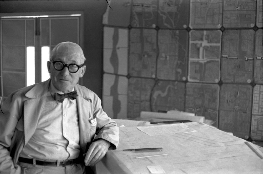 A portrait of Le Corbusier