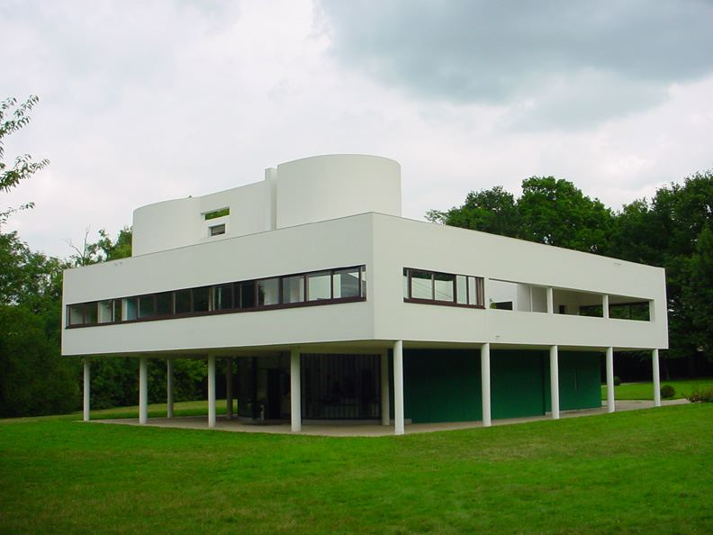 The Villa Savoye in Poissy (1928-1931), designed by Le Corbusier