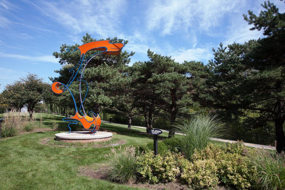 Collaboration, a sculpture by Luke Achterberg, at Skokie Northshore Sculpture Garden.