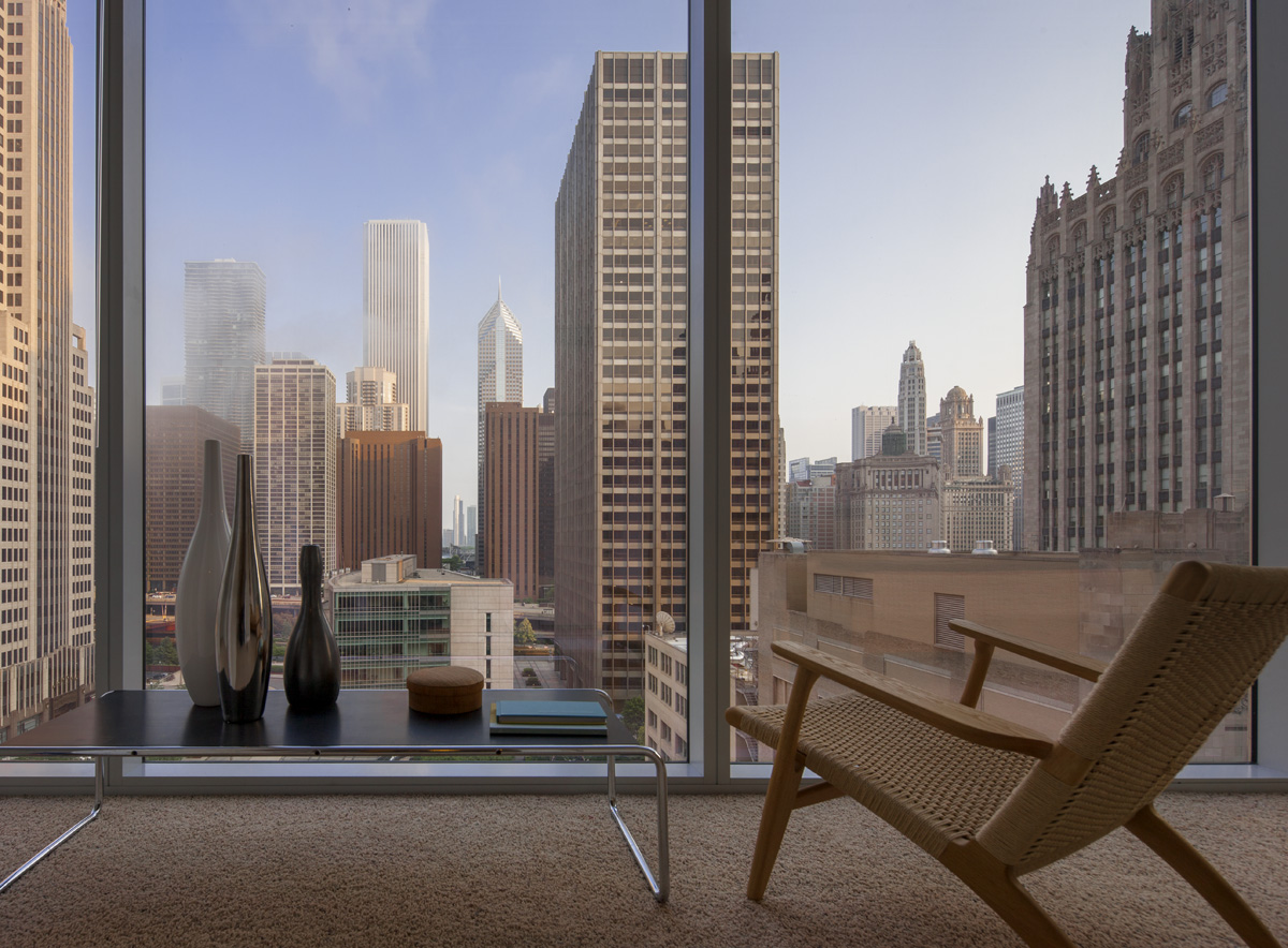 City views from an apartment at Optima Signature
