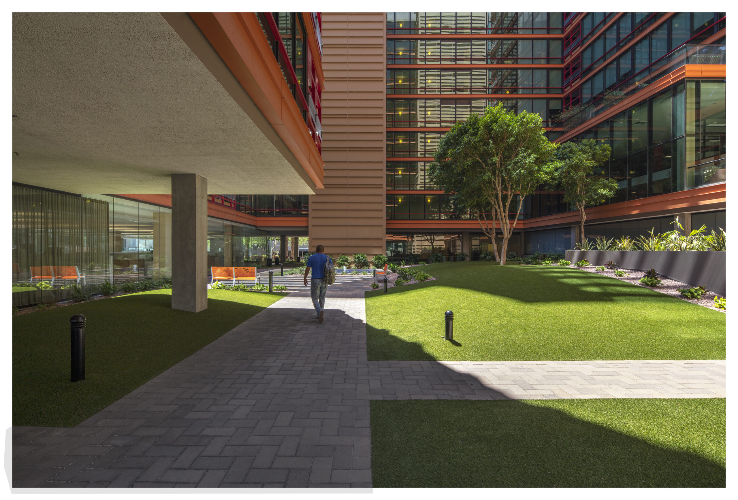 Landscaped Courtyard at Optima Biltmore Towers