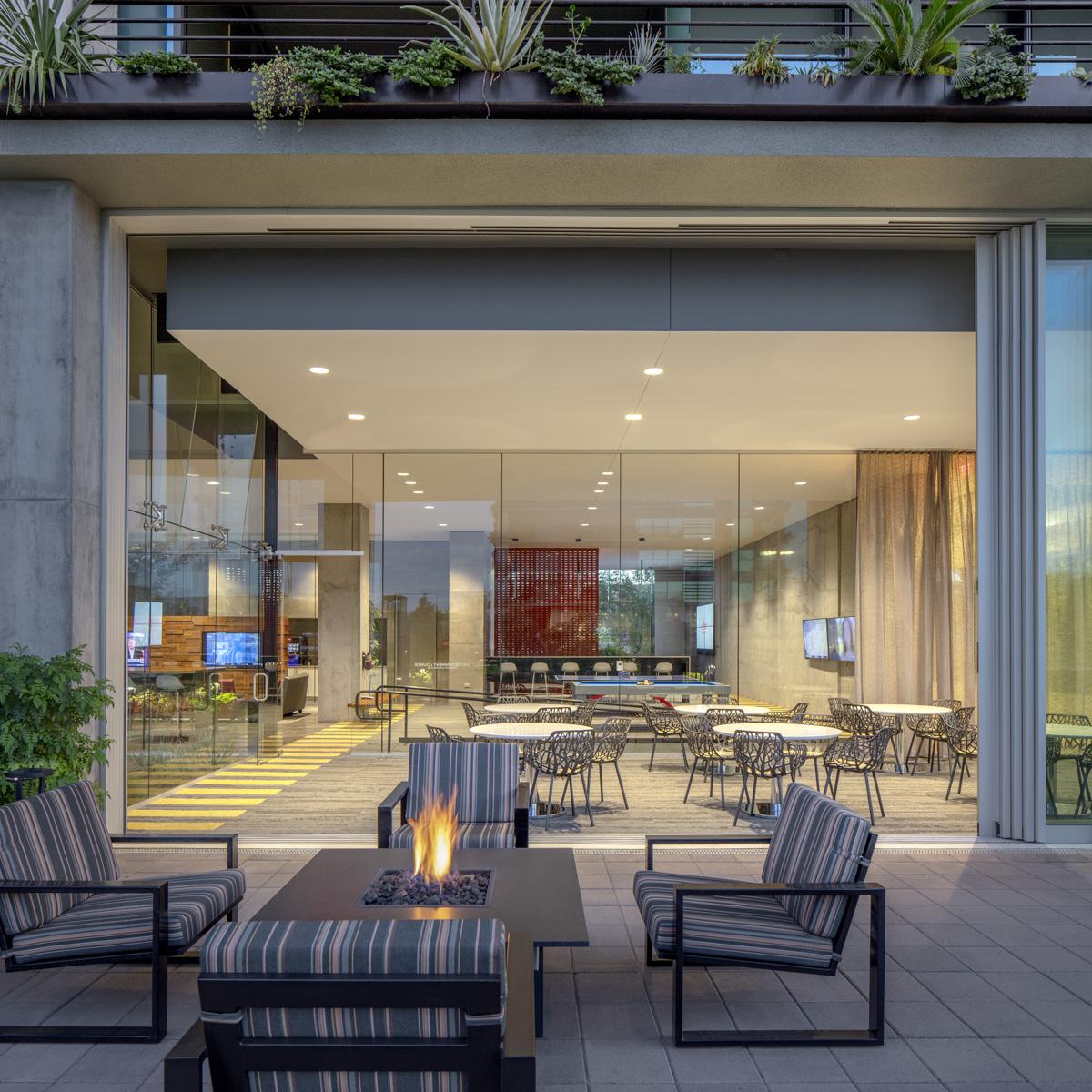 Indoor-Outdoor Amenity space at 7160 Optima Kierland