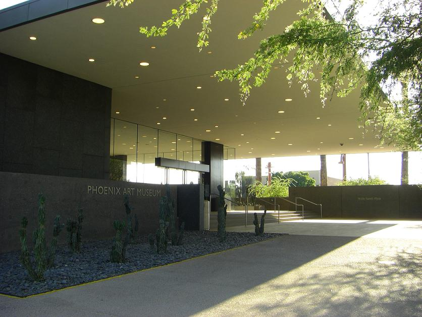 The entrance to the Phoenix Art Museum