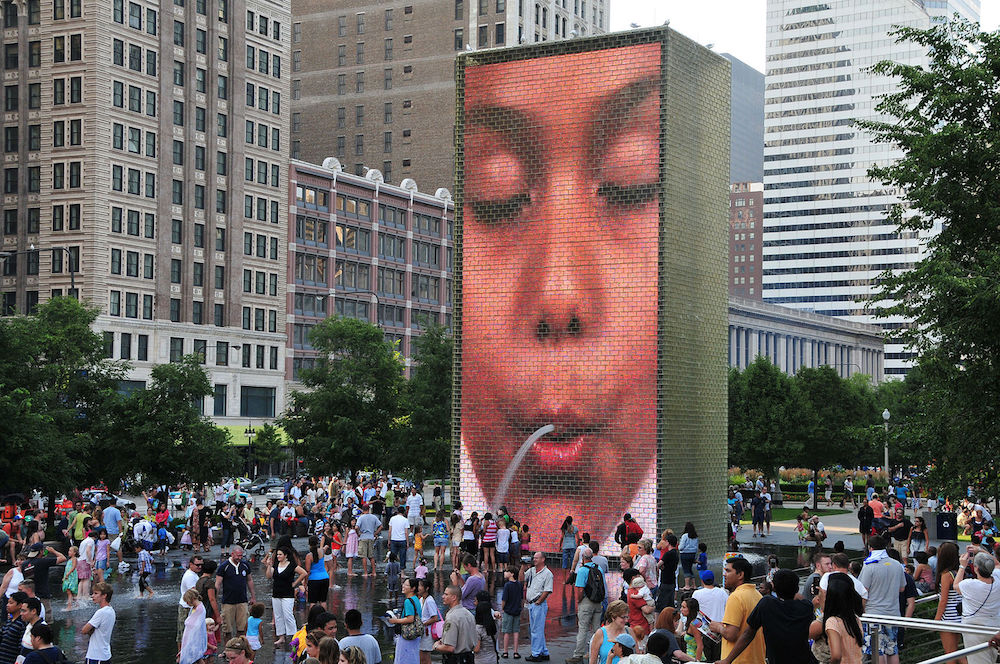 Chicago's Crown Fountain sculpture