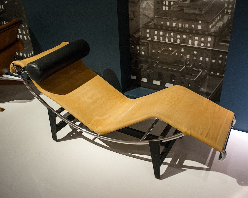 The Le Corbusier LC4 Chaise Lounge, designed by Charlotte Perriand, Le Corbusier and Pierre Jeanneret