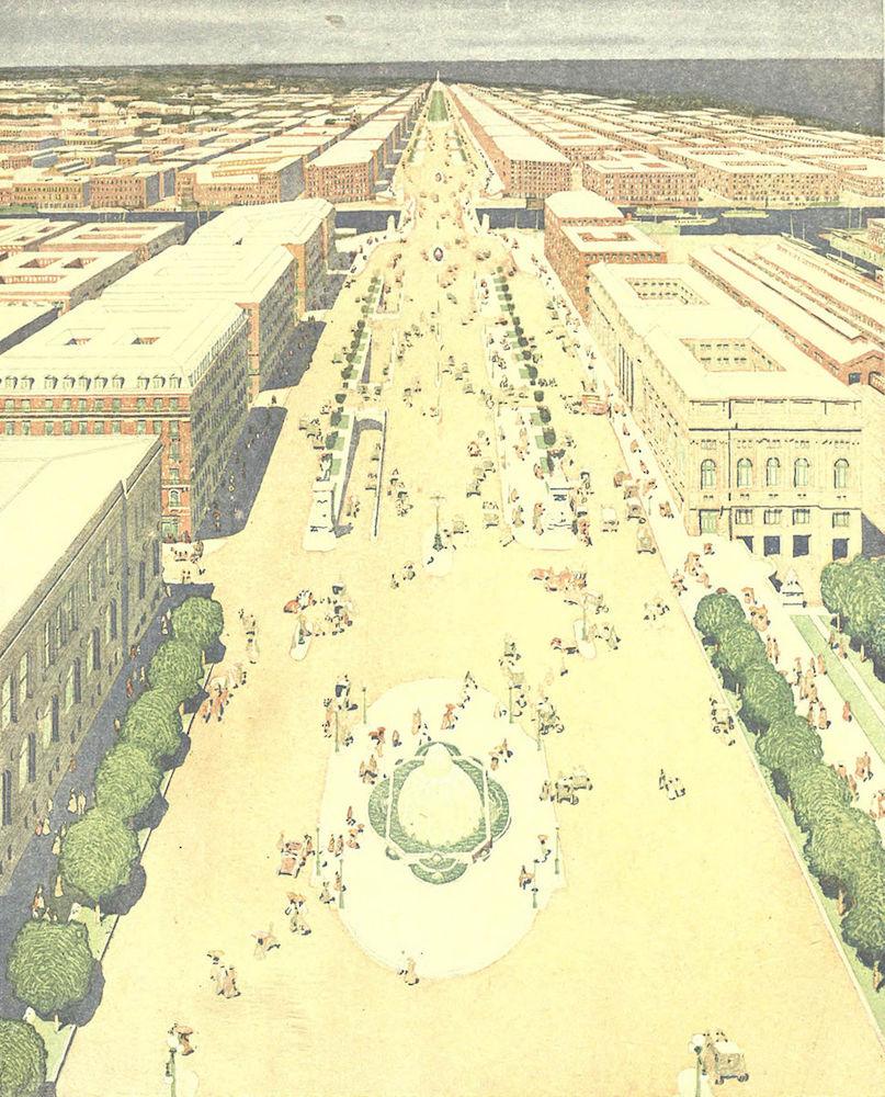 Illustration from Burnham & Bennett's 1909 Plan of Chicago