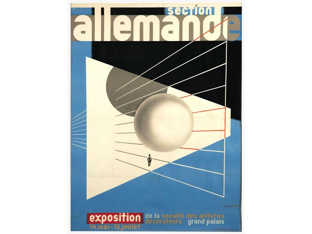 Poster designed by Herbert Bayer, 1930