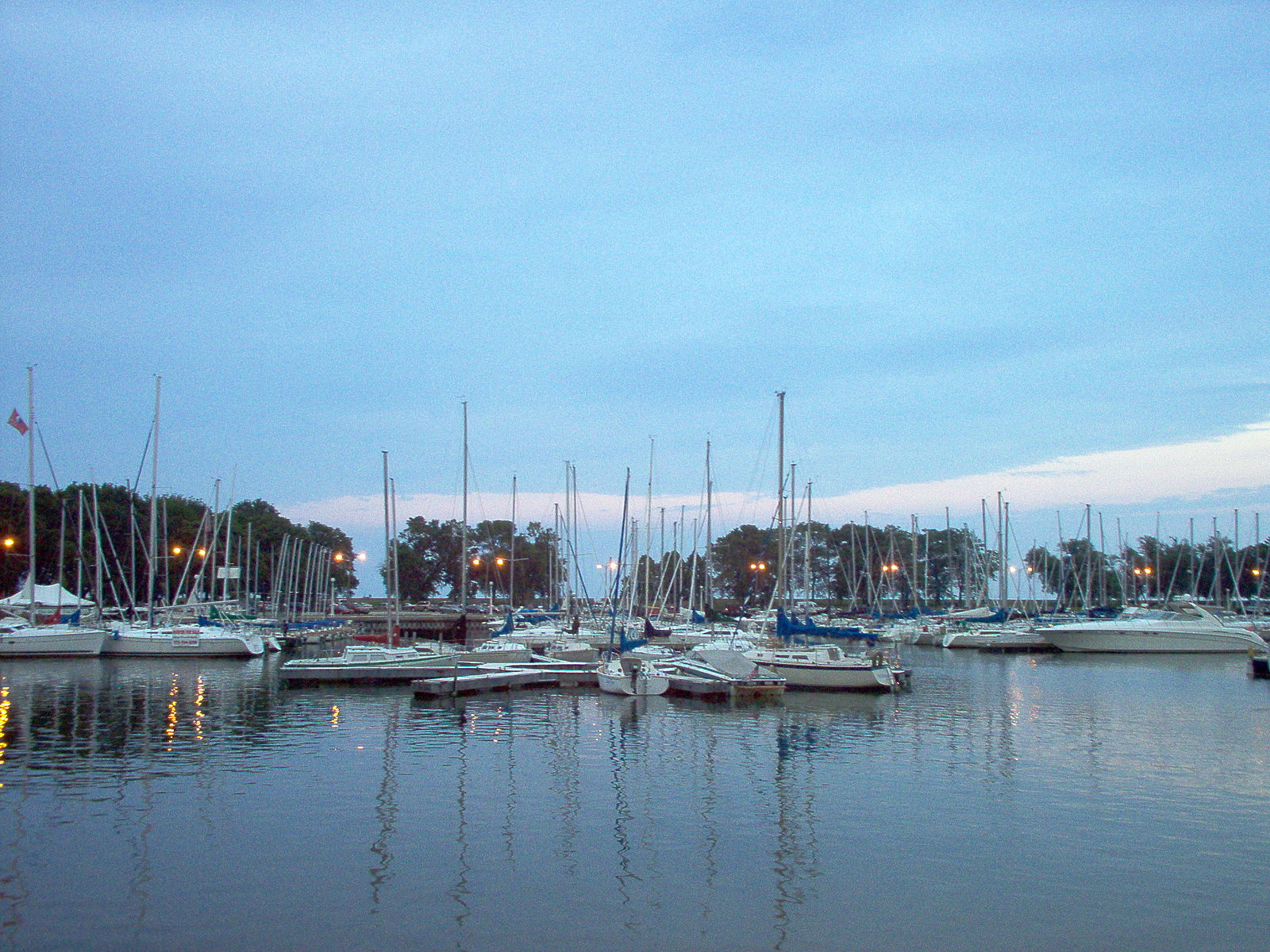 Belmont Harbor in Lakeview