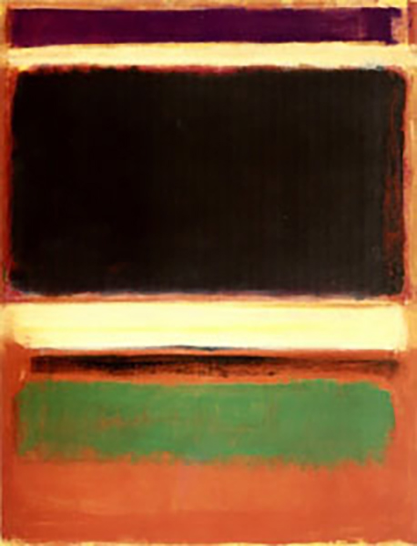 Magenta, Black, Green on Orange, oil on canvas painting by Mark Rothko, 1947, Museum of Modern Art