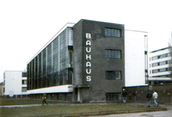 The Bauhaus building in Dessau, Germany, designed by Walter Gropius.