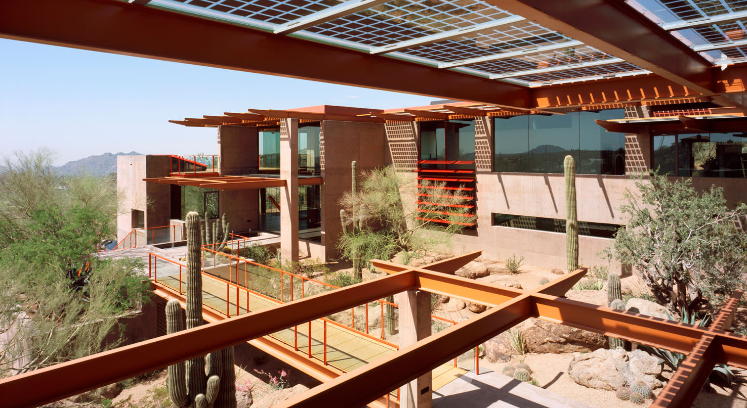 Clerestory windows at Sterling Ridge in Scottsdale, Arizona.