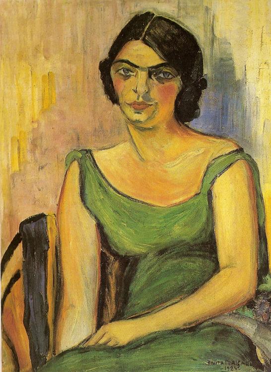 Anita Malfatti, Fernanda de Castro, 1924, oil on canvas, 73.5 x 54.5 cm, Private collection, © Anita Malfatti