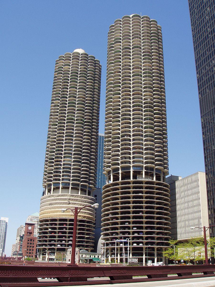 Marina City, designed by Bertrand Golberg, in Chicago, IL