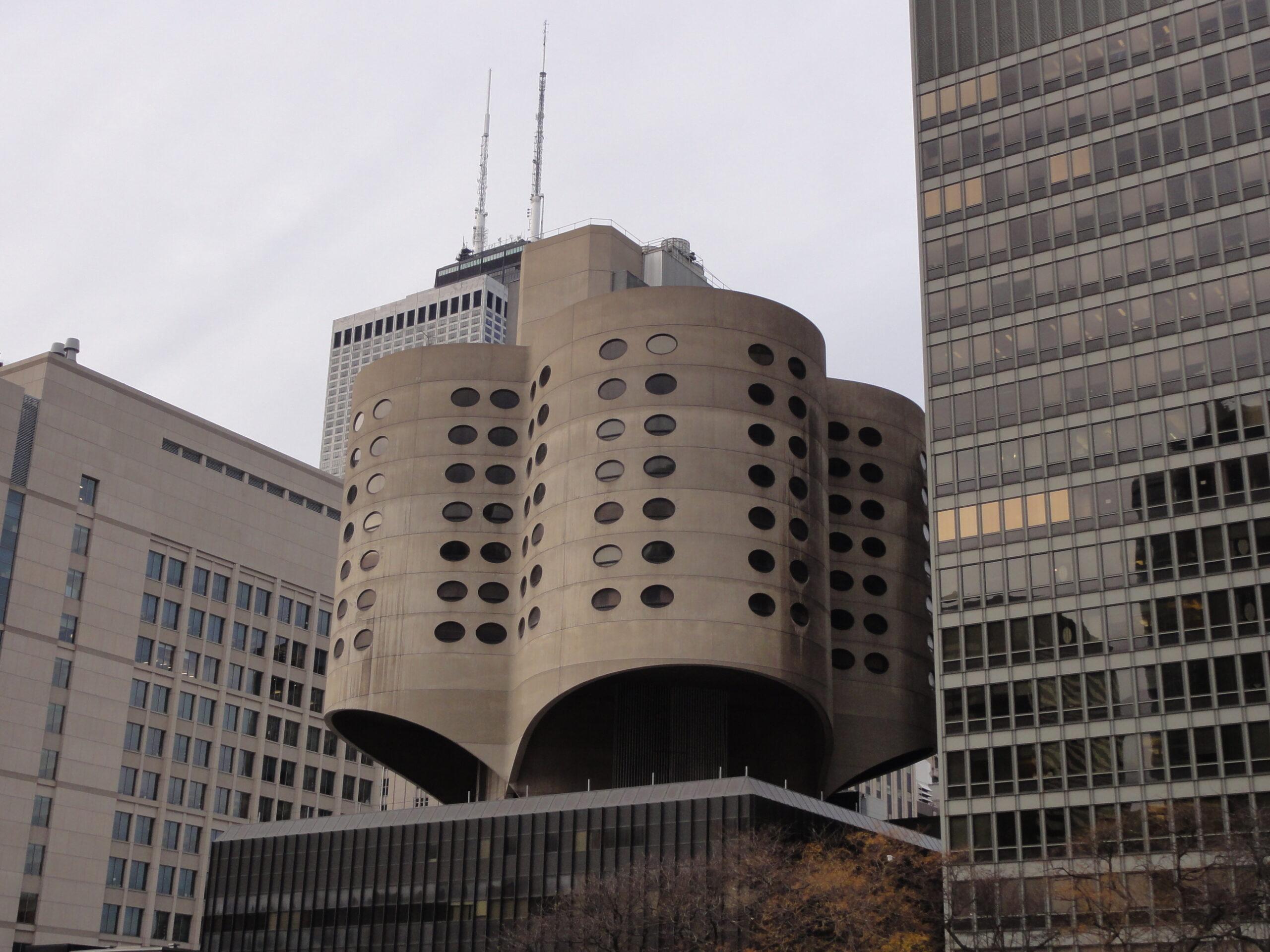 Prentice Women's Hospital, designed by Bertrand Goldberg, in Chicago, IL