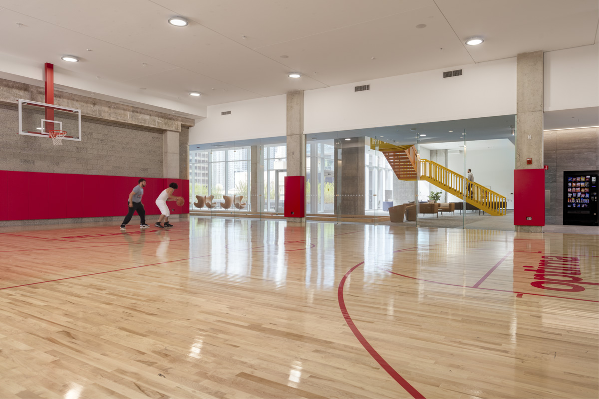 Indoor Basketball Court at Optima Signature