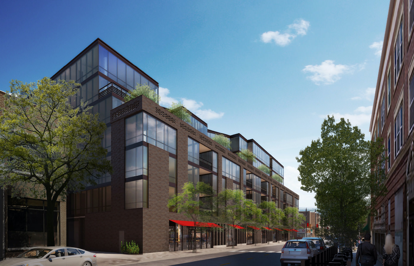 Optima Lakeview, featuring 14,000 square feet of commercial retail space