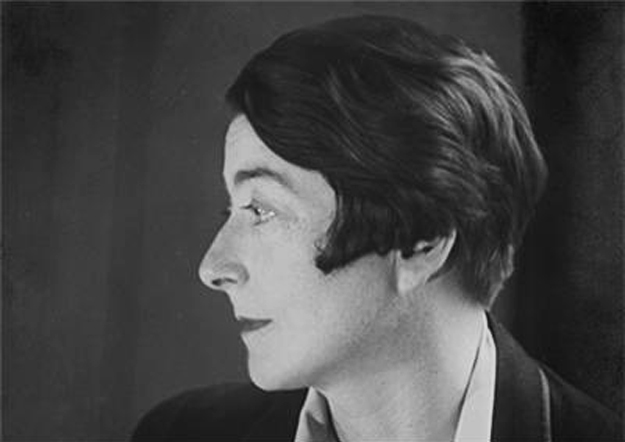 Black and white portrait of Eileen Gray