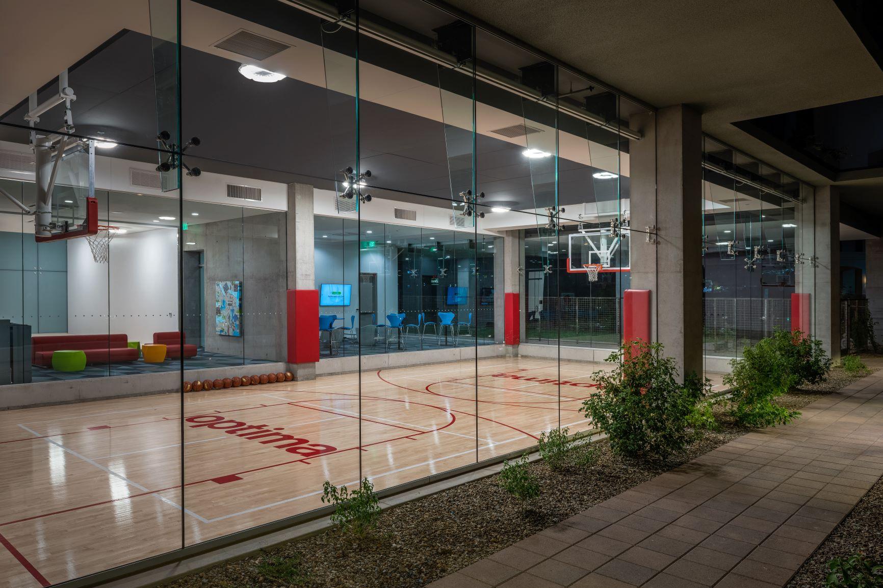 Indoor Basketball court at 7180 Optima Kierland