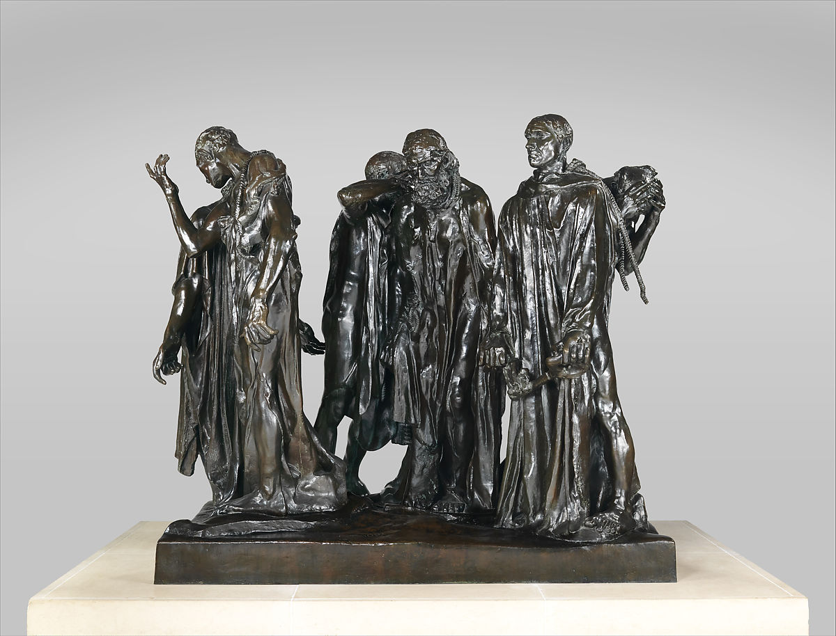 Burghers of Calais by Auguste Rodin, which displayed at the 1900 Paris Exposition. Image courtesy of The Metropolitan Museum of Art