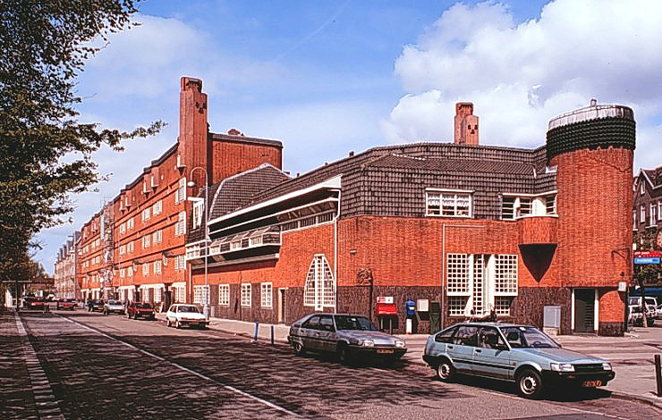 Het Schip apartment building in Amsterdam, 1917-20, designed by Michel de Klerk in the Expressionist style