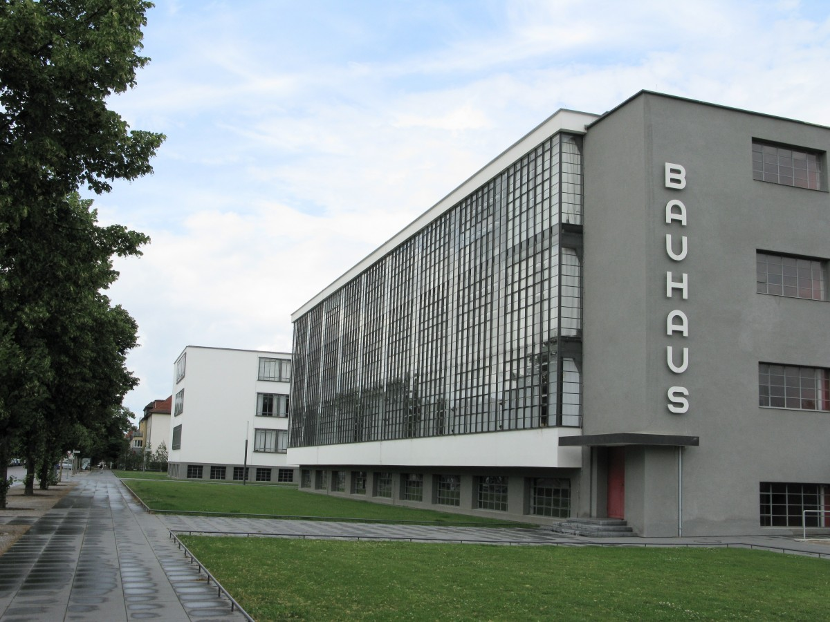 The Bauhaus School of Design, designed by Bauhaus Founder Walter Gropius, in Dessau, Germany
