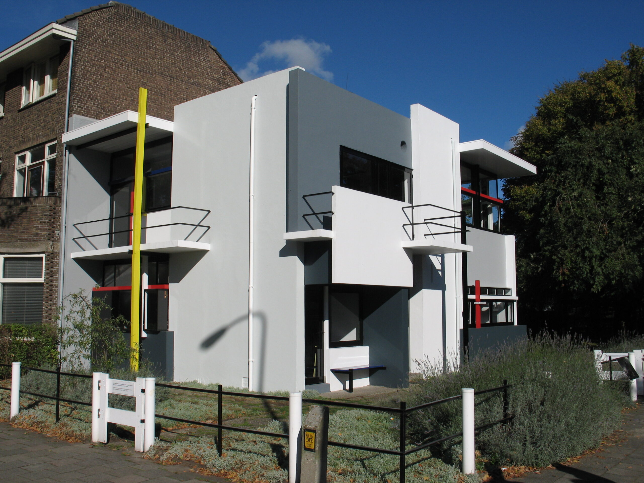 The Rietveld Schröder House in Utrecht, Netherlands, built in 1924 by Dutch architect Gerrit Rietveld