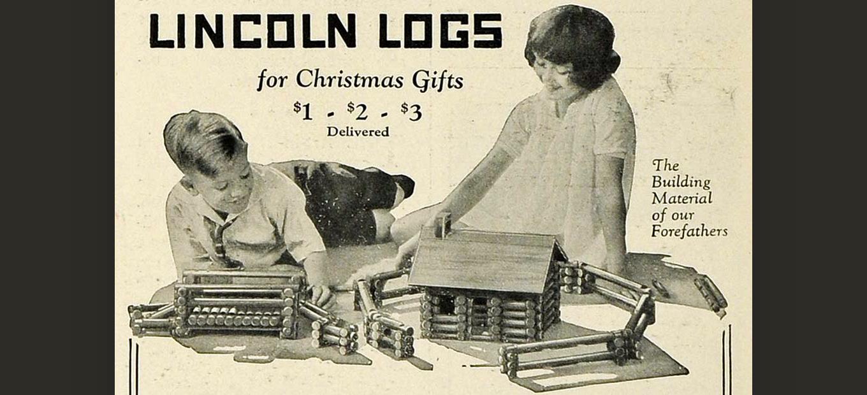 Vintage Lincoln Logs print ad