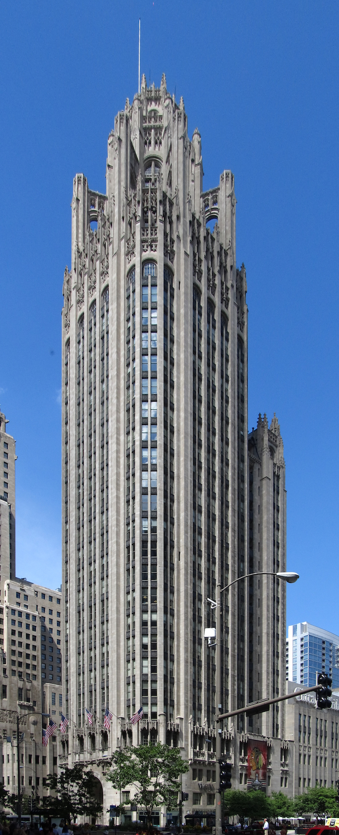 Tribune Tower in downtown Chicago