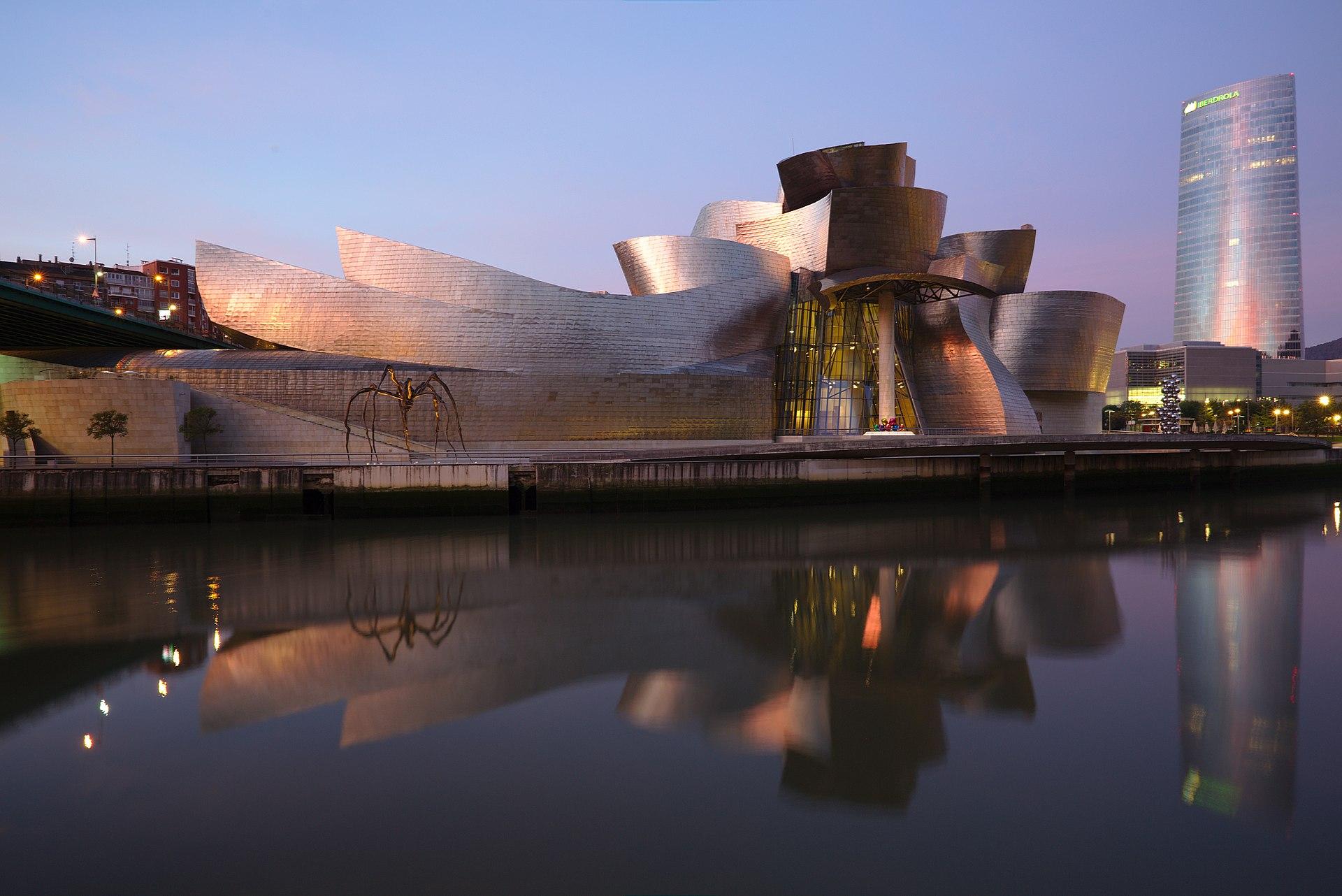 The Guggenheim Museum Bilbao (1997) in Bilbao, Spain by Frank Gehry