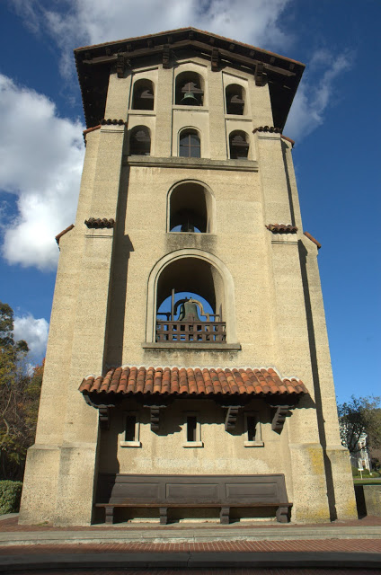 The bell tower at Mills College, designed by Julia Morgan (1904)
