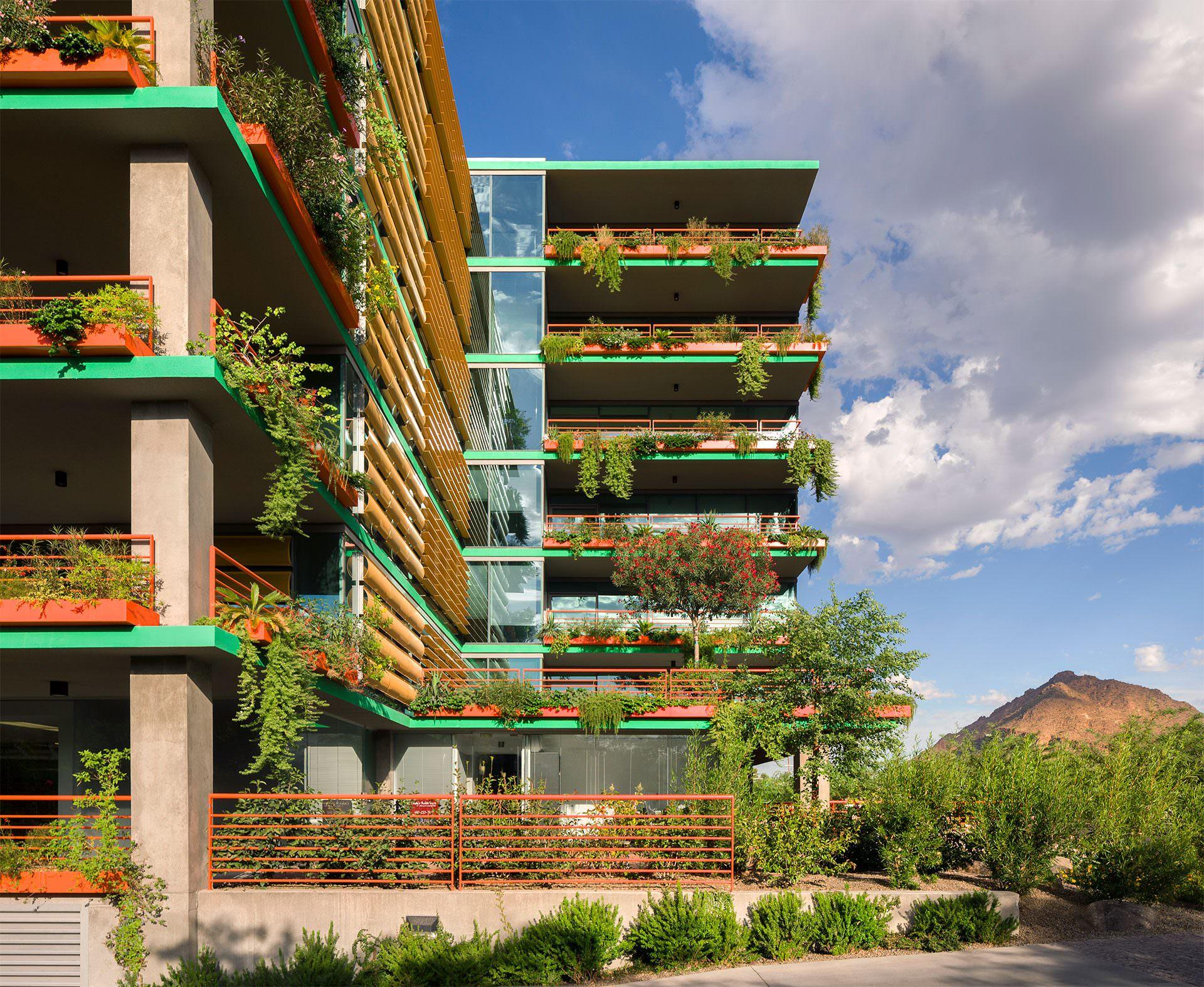 Optima Sonoran Village vertical landscaping system