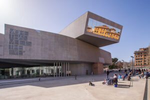 The front of the MAXXI Museum.