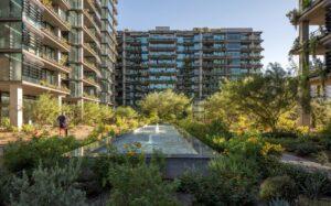 Landscaped Courtyard at Optima Kierland Apartments